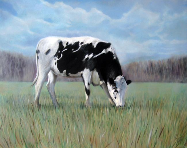 In the Field, Late Afternoon Calm by Susanna Pantas, oil on canvas