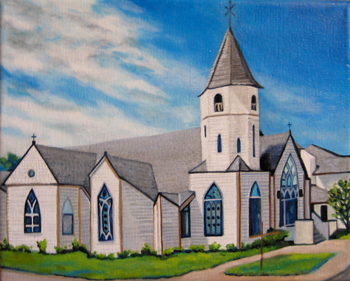 Commissioned Church Painting by Susanna Pantas