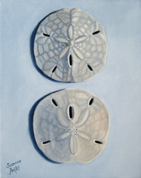 Contemplation: Sand Dollar Pair by Susanna Pantas